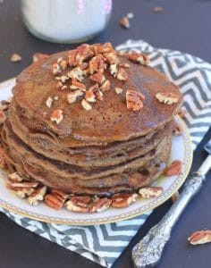 These homemade Gluten FreeGingerbread Pancakes and Gingerbread Pancake Mixwill spread delicious cheer throughout anyone's kitchen this holiday season, and all year long!