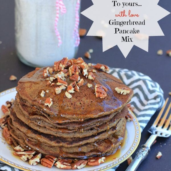Gingerbread Pancakes and Mix // The Spicy RD