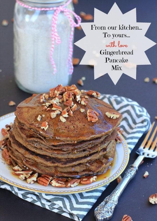 Homemade Gluten Free Pancake Mix & Gingerbread Pancakes