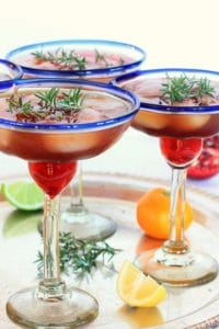 Triple Citrus Pomegranate Rosemary Margaritas // The Spicy RD