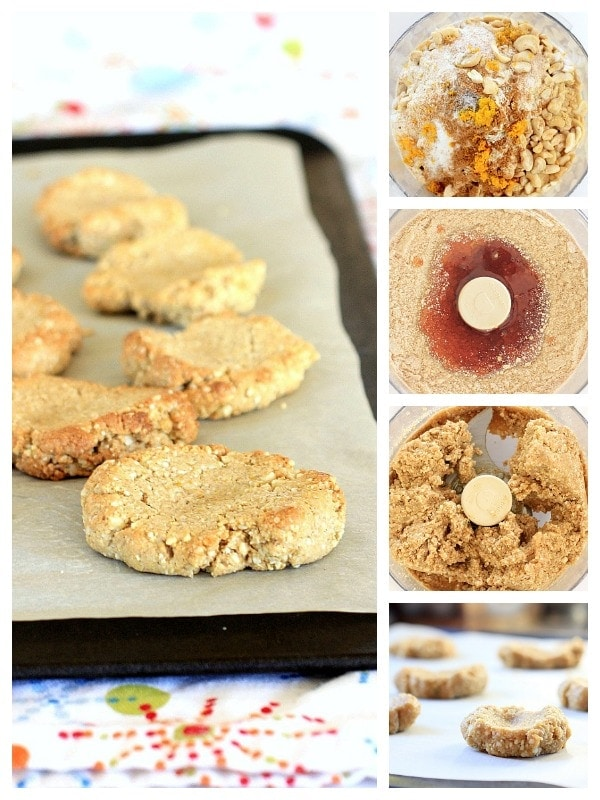 Orange Spiced Cashew Cookie Ingredients