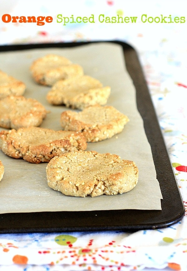 Orange Spiced Cashew Cookies // The Spicy RD