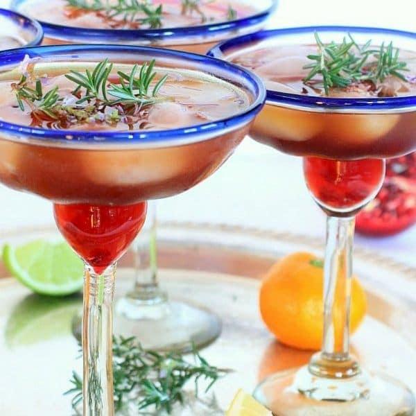 Triple Citrus Rosemary Pomegranate Margarita Recipe, So Cal Style