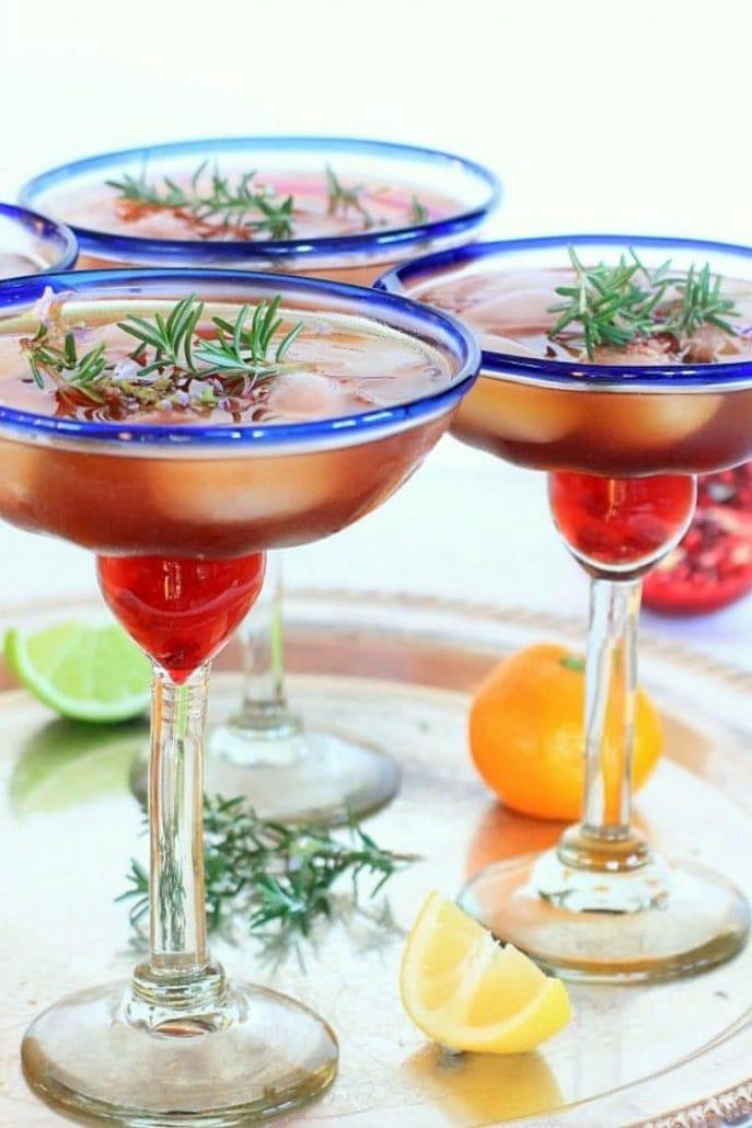 Triple Citrus Rosemary Pomegranate Margarita, So Cal Style