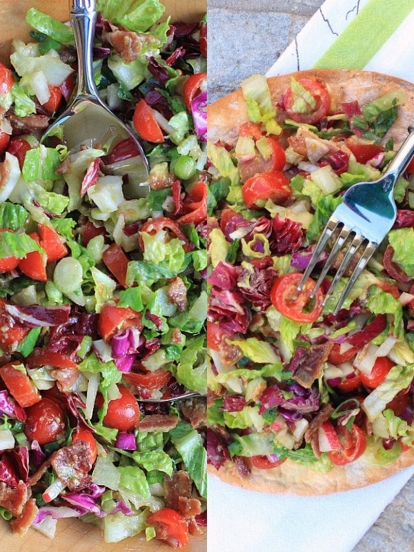 Farmers Market BLT & Avocado Chopped Salad & Pizza