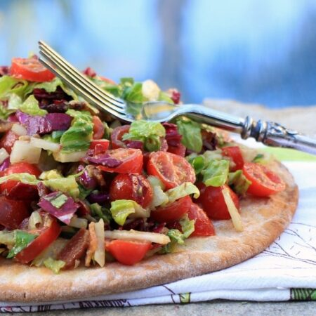Farmers Market BLT & Avocado Pizza Salad
