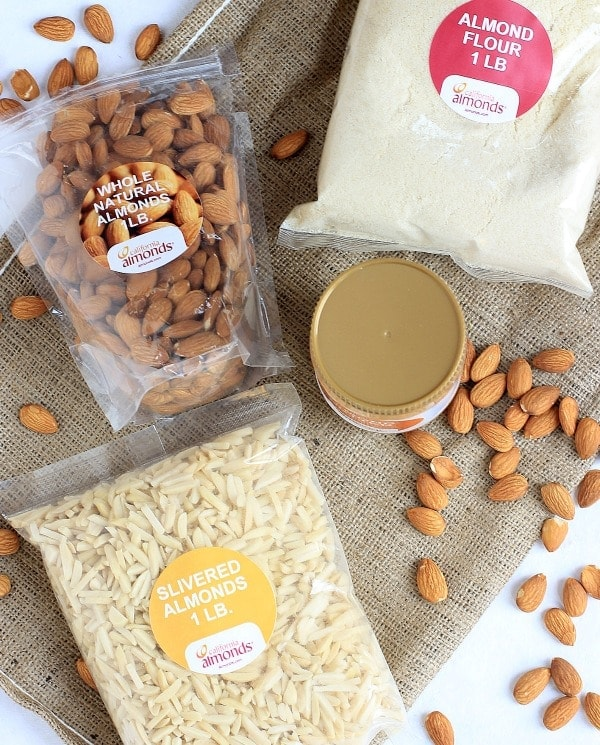 almond recipes + different types of almonds