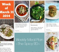 Weekly Meal Plan, Link Love, Happy Things + What's Important in Life