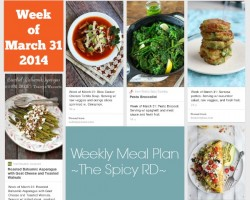 Weekly Meal Plan march 31, 2014 // The Spicy RD