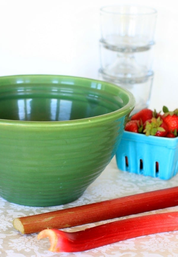 Green Bauer Pottery VIntage Mixing Bowl