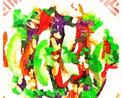 Avocado and Chicken Salad with Asian Citrus Dressing