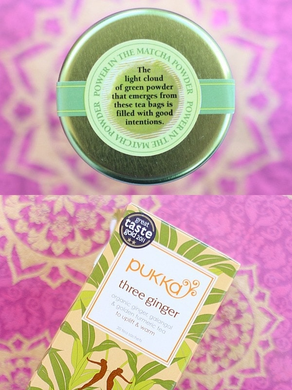 Matcha Green Tea and Pukka Three Ginger Tea // EA Stewart