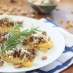 Mushroom Sausage Polenta Bruschetta