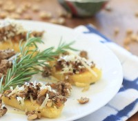 Mushroom and Sausage Polenta Bruschetta~ The Recipe ReDux