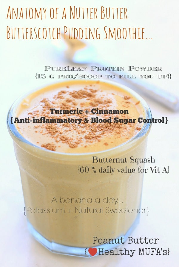 Nutter Butter Butterscotch Pudding Smoothie