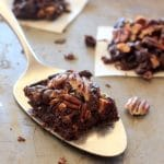 Vegan Black Bean Brownies with Walnuts