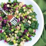 Mood boosting foods : Kale power salad on a white plate