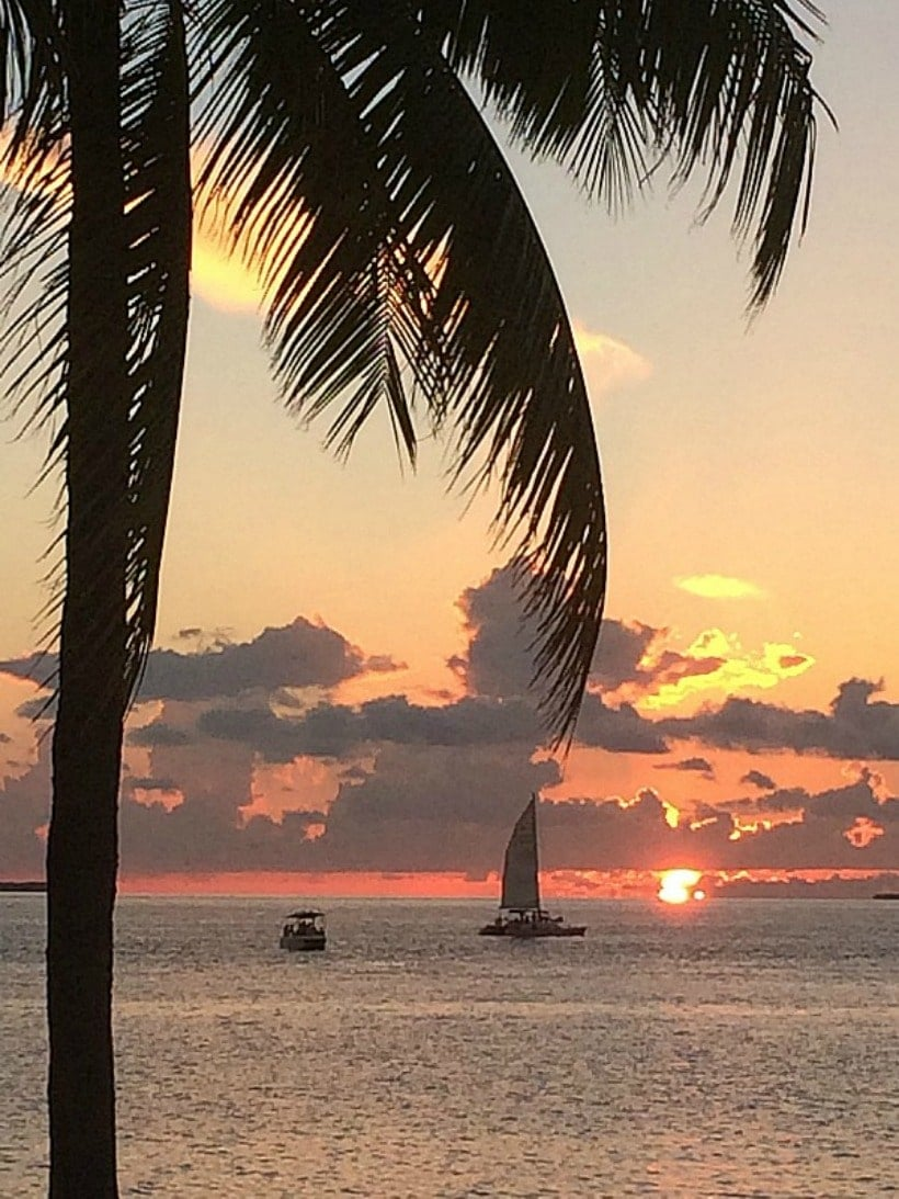 Happiness is seeing the sunset in Key West Florida!