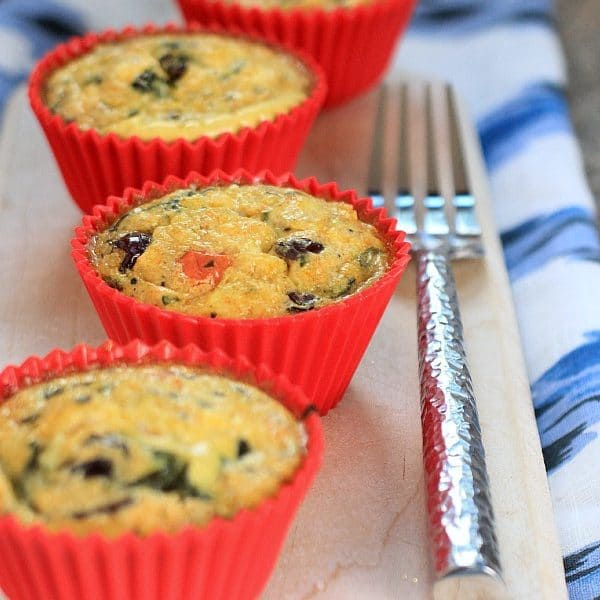 Easy, Make Ahead, Healthy Breakfast Idea! Mediterranean Feta & Quinoa Egg Muffins
