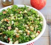 Autumn Chopped Salad with Apples, Fennel, Macadamia Nuts and Maple Dressing
