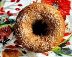 Homemade Spiced Apple Cider Doughnuts