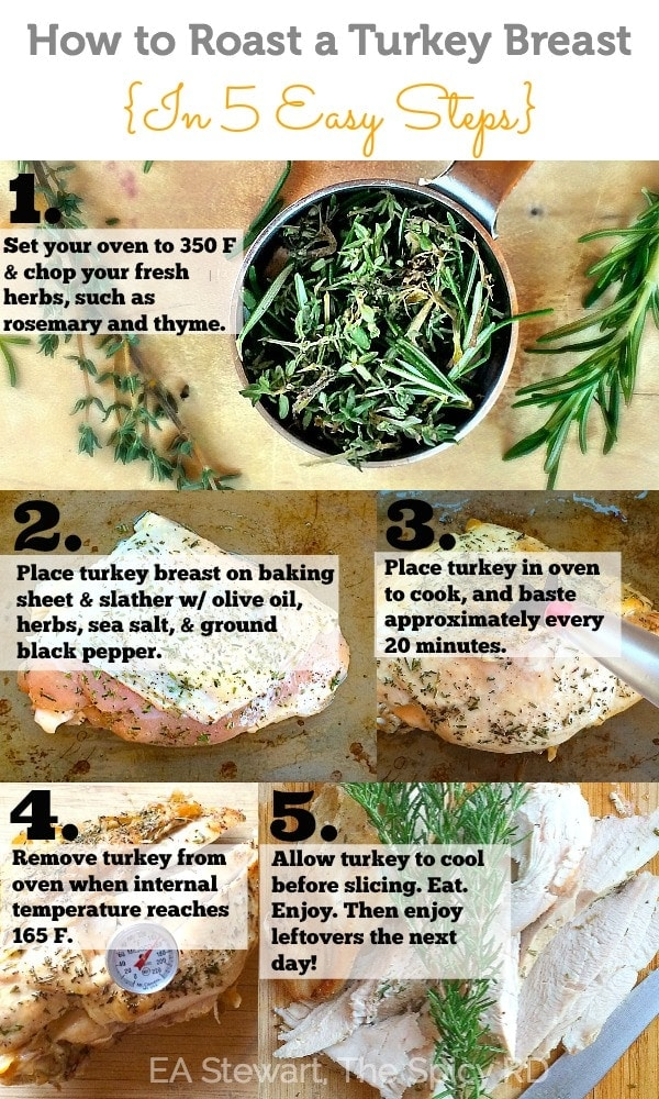 Cooking Tutorial-How to Roast a Turkey Breast in 5 Easy Steps // EA Stewart-The Spicy RD
