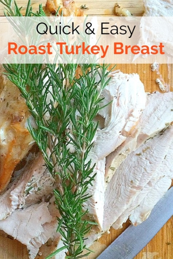 You'll love this moist and delicious Easy Roast Turkey Breast with Fresh Herbs! Make it for a healthy weeknight dinner, or for the holidays when you're not cooking for a crowd. #glutenfree #lowfodmap #thanksgiving #turkey #lowcarb #paleo