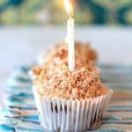 Happy Birthday to Me! German Chocolate Brownie Cupcakes with Raw Coconut Pecan Caramel Frosting