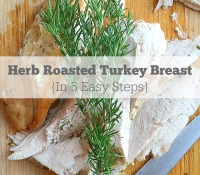 Herb Roasted Turkey Breast w/ Fresh Rosemary and Thyme in 5 Easy Steps // EA Stewart-The Spicy RD