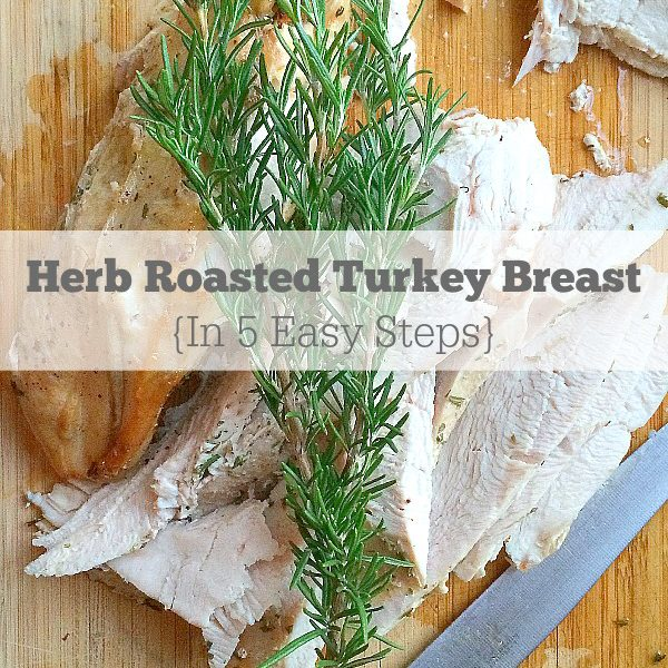 Easy Roast Turkey Breast w/ Fresh Rosemary and Thyme in 5 Simple Steps | Recipe is gluten free, paleo, and low FODMAP @thepsicyrd