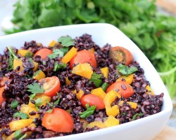 Cherry Tomato & Forbidden Rice Salad + Balanced Box Giveaway