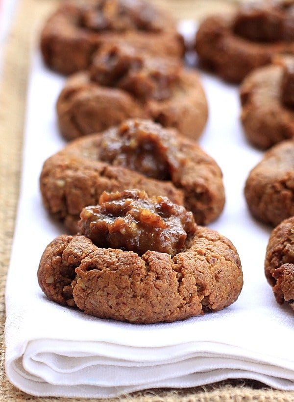 Gluten-Free Gingerbread Cookies w/ Sea Salt Caramel Rum Raisin Filling