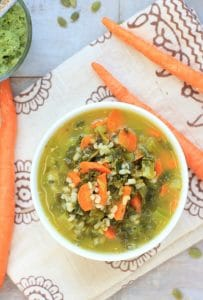 Kale & Basmati Soup w/ Pumpkin Seed Pesto + the 21-Day Tummy Cookbook Giveaway