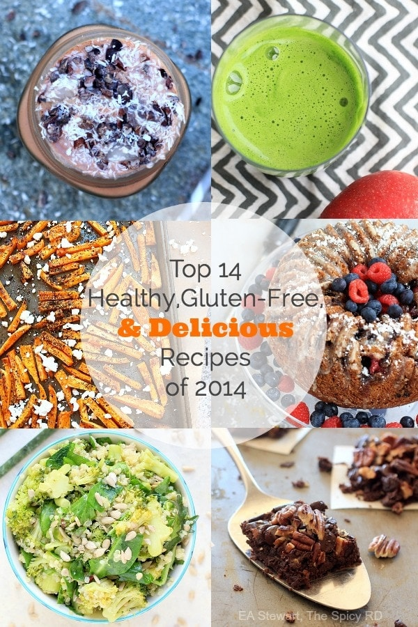 Top 14 Healthy, Gluten-Free, and Delicious Recipes of 2014 || The Spicy RD
