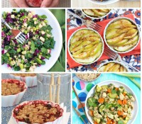 One of my favorite healthy living tips is to eat more veggies and fruit every day. Here are 25 healthy & delicious recipes featuring fruits and veggies to get you started! #healthyhabits | Spicy RD Nutrition
