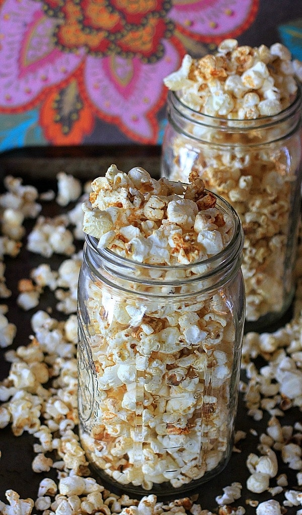 Pure {healthy} snack heaven! Smokey Spiced Chili Lime Popcorn .