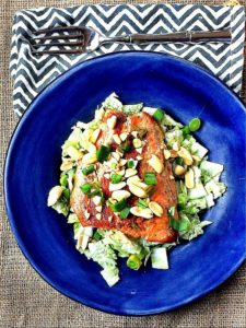 How to Sear Salmon + Quick & Easy Asian Pan Seared Salmon Salad for One