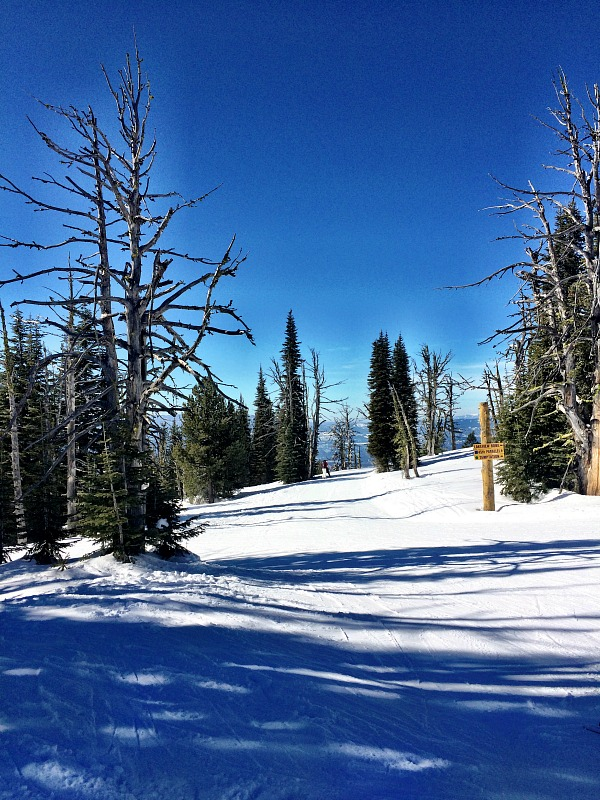 """Bluebird Ski Day' at Brundage Mountain in McCall Idaho 