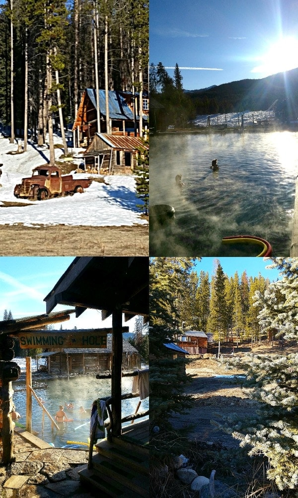 Burgdorf Hot Springs outside of McCall is a fun destination, either via snowmobile in the winter, or via car in the summer.