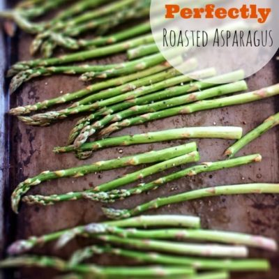 Roasted Asparagus on sheet pan
