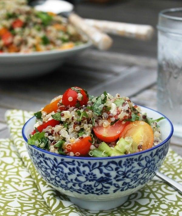 Quinoa, Tomato, Cilantro & Feta Salad recipe at My Cape Cod Kitchen.