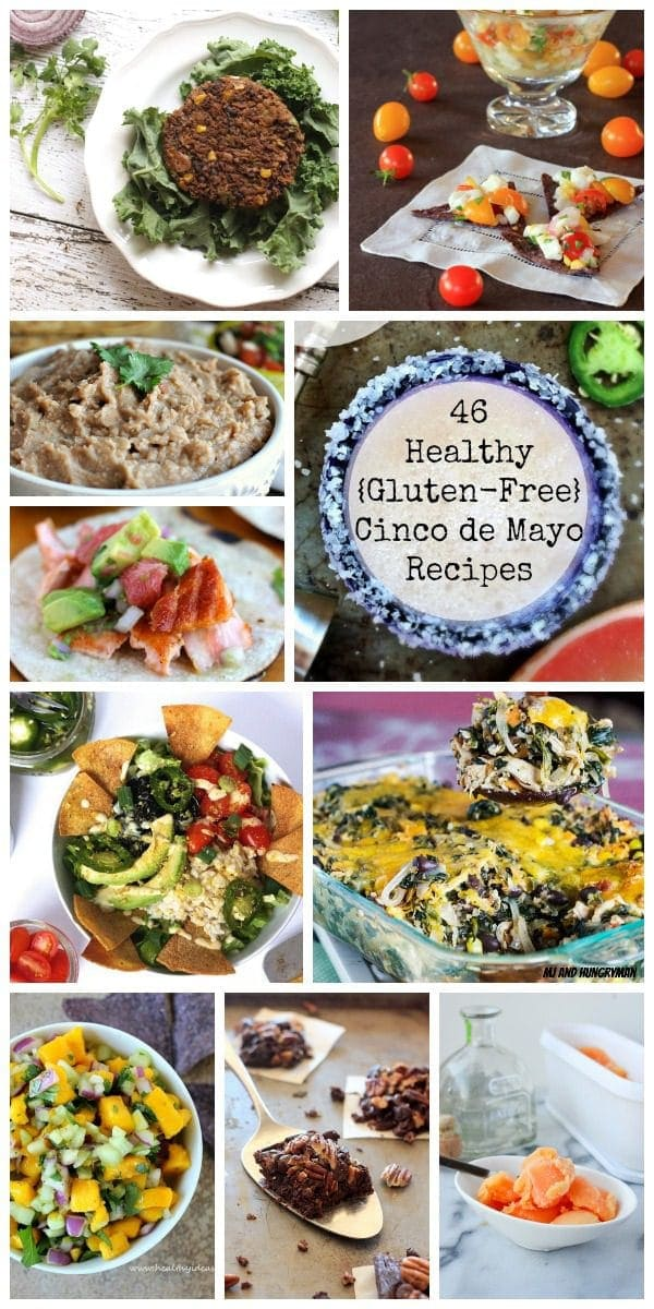Celebrate Cinco de Mayo in style with this mouth watering recipe round-up featuring 46 healthy, gluten -free recipes and 1 delicious Skinny Grapefruit Jalapeno Mezcal Margarita | The Spicy RD