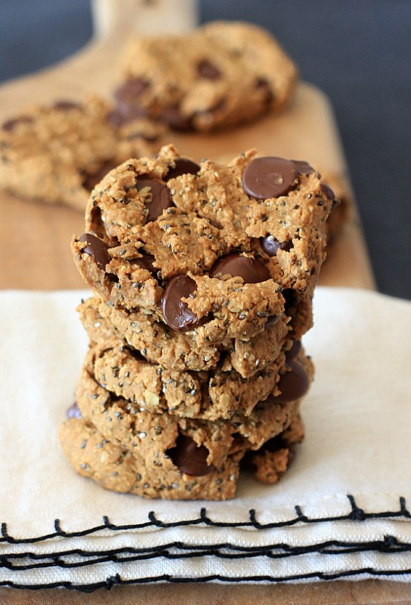 breakfast! Oatmeal Peanut Butter Chia Chocolate Chip Breakfast Cookies ...