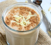 This creamy, dreamy Mexican Chocolate Banana Almond Breakfast Shake is just what you need when you're craving something luscious, chocolatey, AND nutritious!