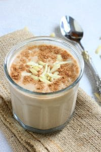 Mexican Chocolate Banana Almond Breakfast Shake + 3 Reasons to Eat Some Almonds Today