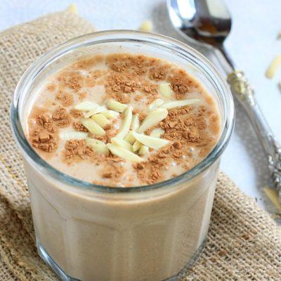 Mexican Chocolate Banana Almond Breakfast Shake