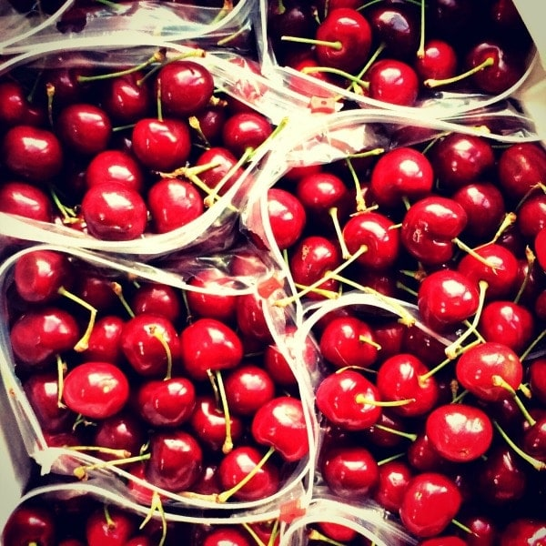 Healthy summer snacking at it's best! Fresh cherries are rich in potassium, antioxidants, and fiber, but the best part, is they're absolutely delicious, so nosh on a handful today!