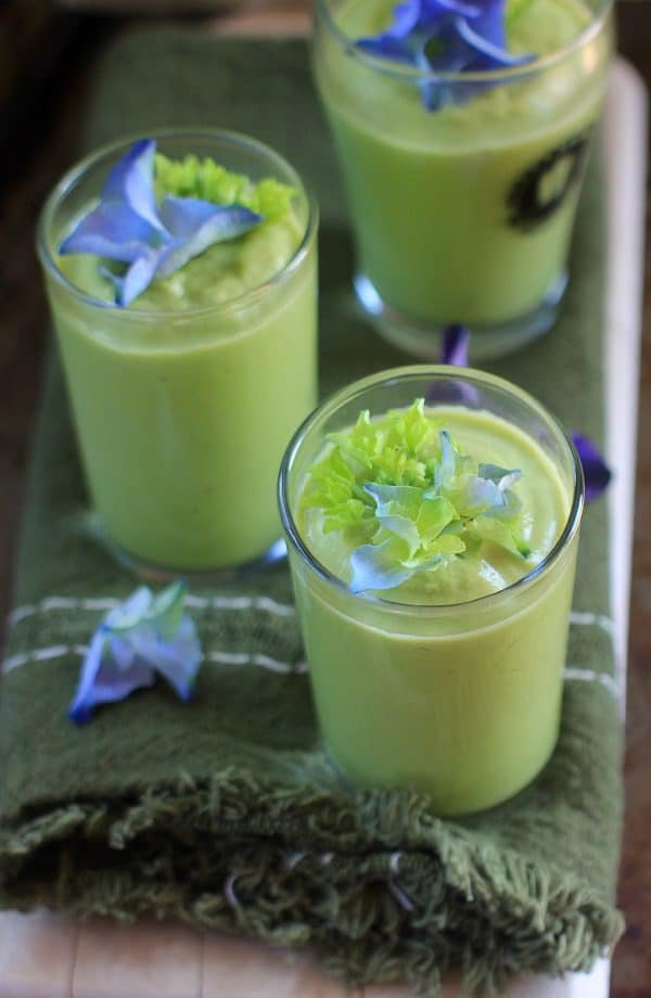 Cucumber Avocado Gazpacho Shooters. Refreshing, nourishing, and, oh-so-delicious!