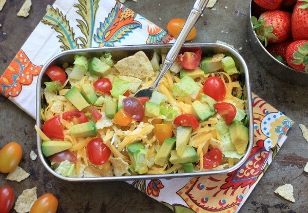 DIY Taco Salad Lunchbox Bowls at The Food Network healthy Eats Blog
