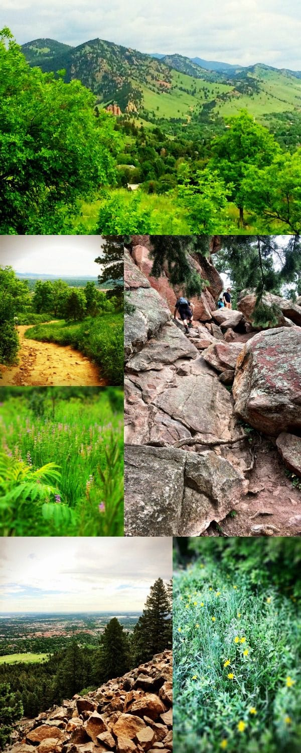 Happiness is hiking the Boulder Flatirons in Colorado!